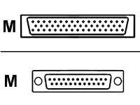 AT-MCR12-10 -- Cisco - Serial RS-530 cable (DTE) - Smart Serial (M) to DB-25 (M) - 10 ft - shielded - for Cisco 261