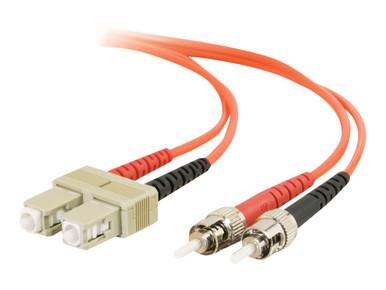 09130 -- C2G 3m SC-ST 62.5/125 OM1 Duplex Multimode PVC Fiber Optic Cable - Orange - Patch cable -  -- New