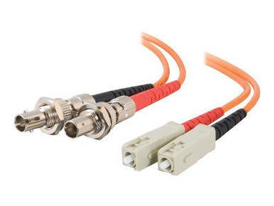17602 -- C2G OM1 Multimode ST Female to SC Male Fiber Adapter Cable - Network cable - ST multi-mode -- New