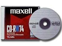 630011 -- MAXELL CD-RW 10 PACK 700MB/80   MINUTES NIC                         -- New