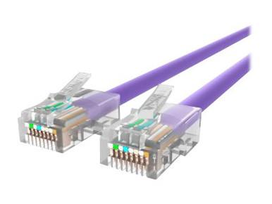 A3L791-03-PUR -- Belkin - Patch cable - RJ-45 (M) to RJ-45 (M) - 3 ft - UTP - CAT 5e - purple - B2B - for O -- New