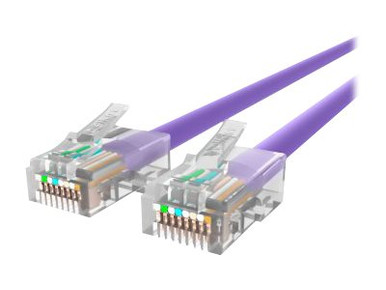 A3L791-08-PUR -- Belkin - Patch cable - RJ-45 (M) to RJ-45 (M) - 8 ft - UTP - CAT 5e - purple - for Omniview SMB 1x16