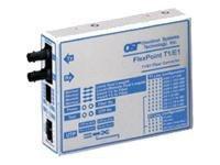 22679 -- Omnitron FlexPoint T1/E1 - Transceiver - fiber optic - SC single-mode / RJ-48 - up to 17.4 miles