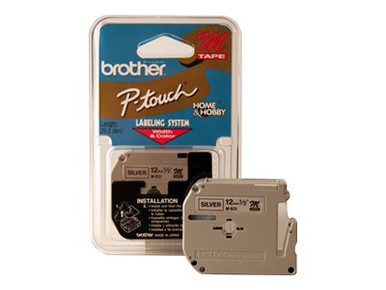 M931 -- Brother M931 - Black on silver - Roll (0.47 in x 26.2 ft) 1 roll(s) non-laminated tape - f -- New