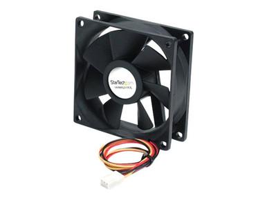 FAN8X25TX3L -- StarTech.com 80x25mm Ball Bearing Quiet Computer Case Fan w/ TX3 Connector - 3 pin case Fa -- New