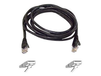 A3L850-10-BLK-S -- Belkin - Patch cable - RJ-45 (M) to RJ-45 (M) - 10 ft - CAT 5e - molded, snagless - black  -- New