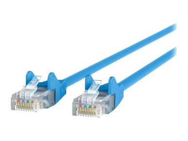 A3L791-06-BLU-S -- Belkin - Patch cable - RJ-45 (M) to RJ-45 (M) - 6 ft - UTP - CAT 5e - booted, snagless - blue - B2B