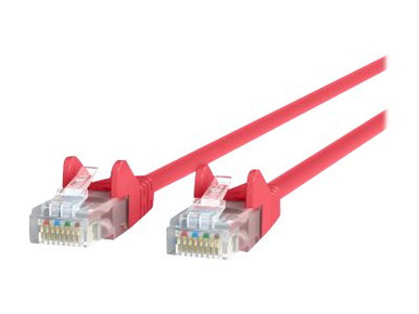 A3L791-01-RED-S -- Belkin - Patch cable - RJ-45 (M) to RJ-45 (M) - 1 ft - UTP - CAT 5e - booted, snagless - r -- New