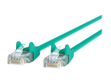 A3L791-02-GRN-S -- Belkin - Patch cable - RJ-45 (M) to RJ-45 (M) - 2 ft - UTP - CAT 5e - molded, snagless - green - for