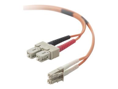 F2F202L7-03M -- Belkin - Patch cable - LC/PC multi-mode (M) to SC/PC multi-mode (M) - 3 m - fiber optic -  -- New