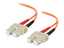 09127 -- C2G 15m ST-ST 62.5/125 OM1 Duplex Multimode PVC Fiber Optic Cable - Orange - Patch cable - -- New