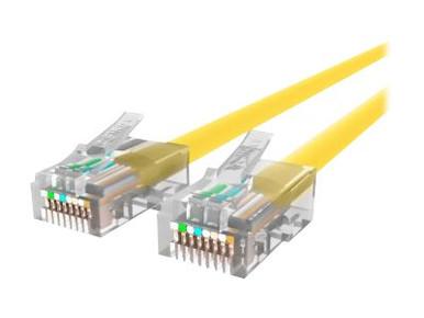 A3L791-12-YLW -- Belkin - Patch cable - RJ-45 (M) to RJ-45 (M) - 12 ft - UTP - CAT 5e - yellow - for Omnivi