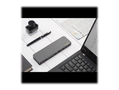 40AU0065US -- Lenovo USB-C Mini Dock - Mini-dock - USB-C - VGA, HDMI - GigE - 65 Watt - for 100e Chromeb
