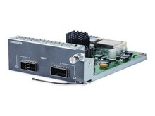 JH155A -- HPE 2-port QSFP+ Module - Expansion module - 40Gb Ethernet x 2 - for HPE 5510 2-port QSFP+ -- New
