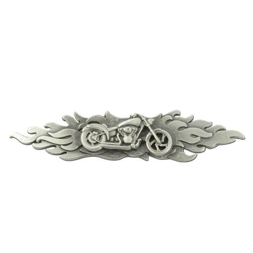 Flames Motorcycle Pin
