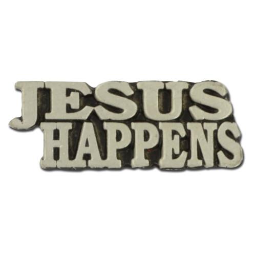 Jesus Happens Lapel Pin