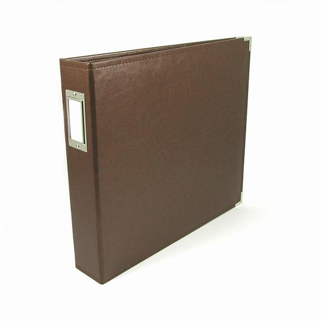 12x12 Leather Ring Album: Dark Chocolate