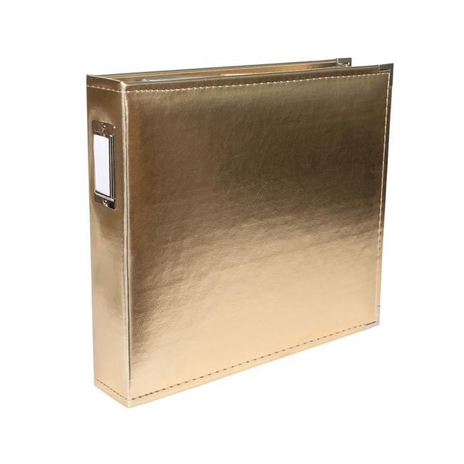 12x12 Leather Ring Album: Gold