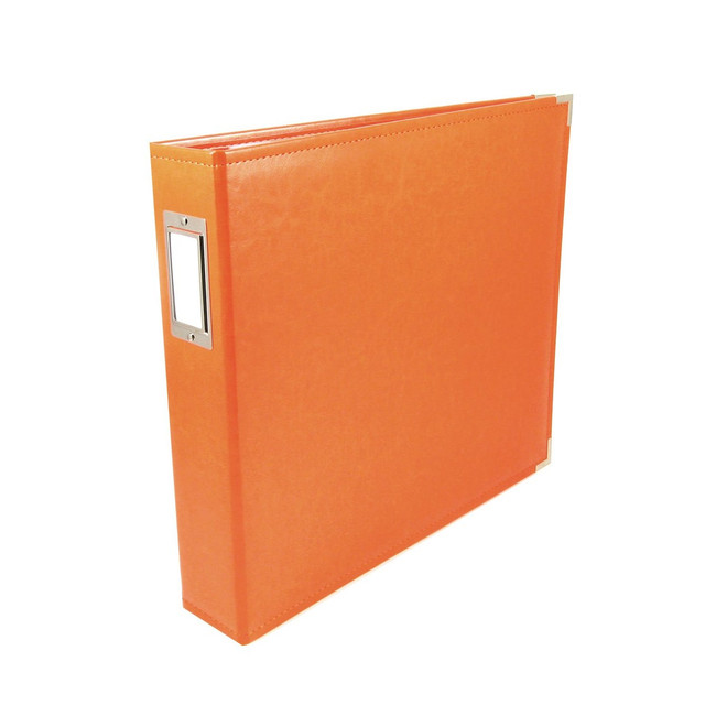 12x12 Leather Ring Album: Orange Soda