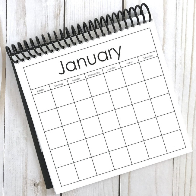 A Pebbles Exclusive: 6x6 Blank Calendar
