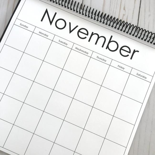 A Pebbles Exclusive: 12x12 Blank Calendar