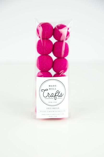 Felt Balls: Hot Pink
