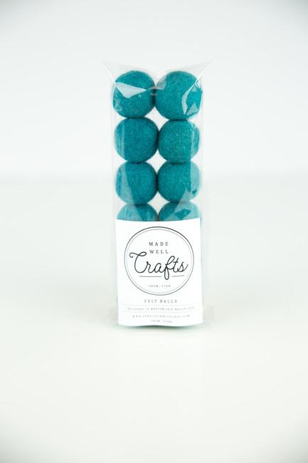 Felt Balls: Aquamarine