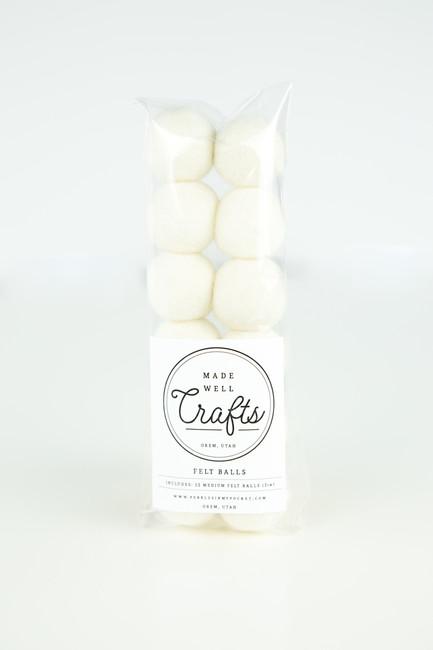 Felt Balls: White