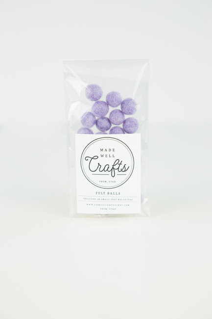 Small Felt Balls: Lavender