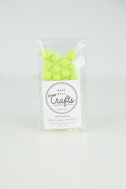 Small Felt Balls: Neon