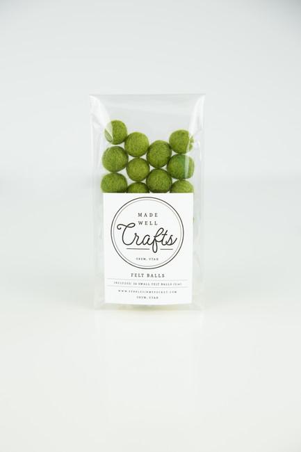 Small Felt Balls: Olive
