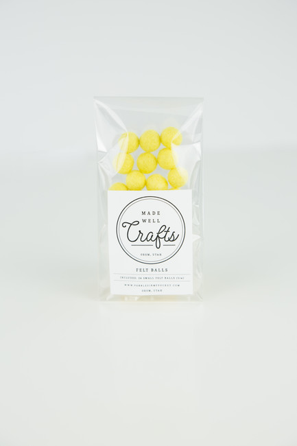 Small Felt Balls: Yellow