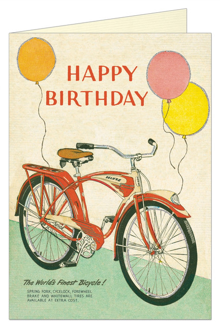 Cavallini & Co: Happy Birthday Bicycle