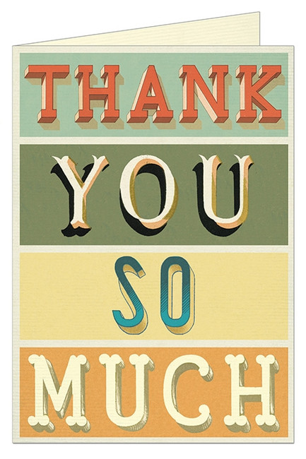 Cavallini & Co: Thank You Typography