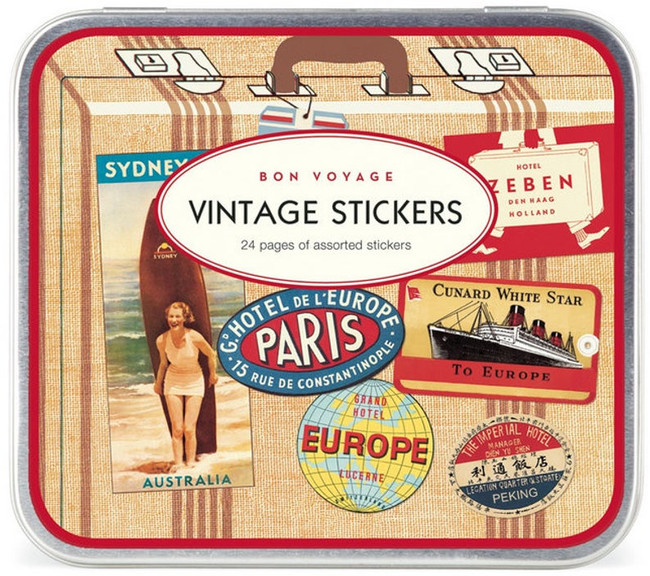 Cavallini & Co: Bon Voyage Vintage Assorted Stickers