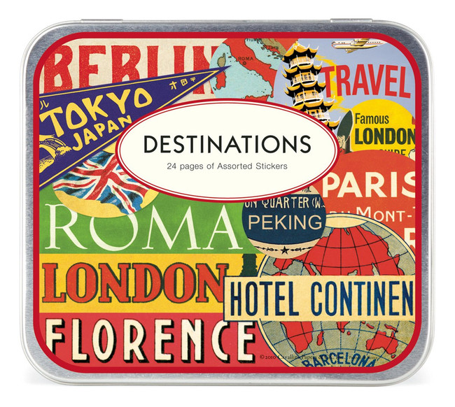 Cavallini & Co: Destinations Assorted Stickers