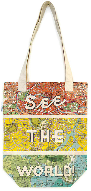 Cavallini & Co: See the World Tote Bag