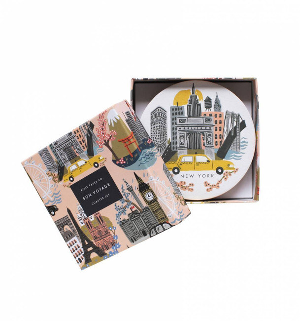 Rifle Paper Co: Cities Coaster Set