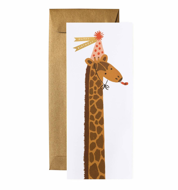 Rifle Paper Co: Birthday Giraffe No. 10 Card