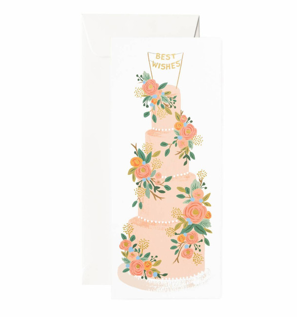 Rifle Paper Co: Tall Wedding Cake No. 10 Card