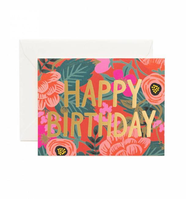 Rifle Paper Co: Poppy Birthday Card