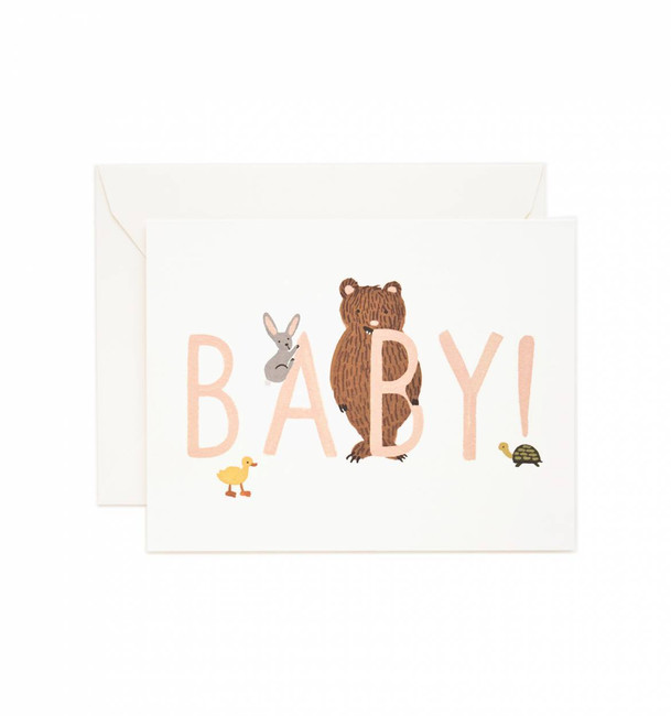 Rifle Paper Co: Baby! Card (Peach)