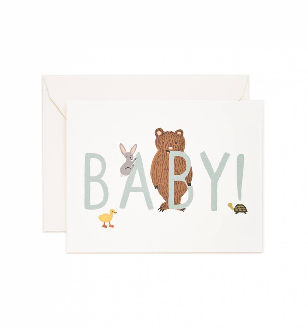 Rifle Paper Co: Baby! Card (Mint)