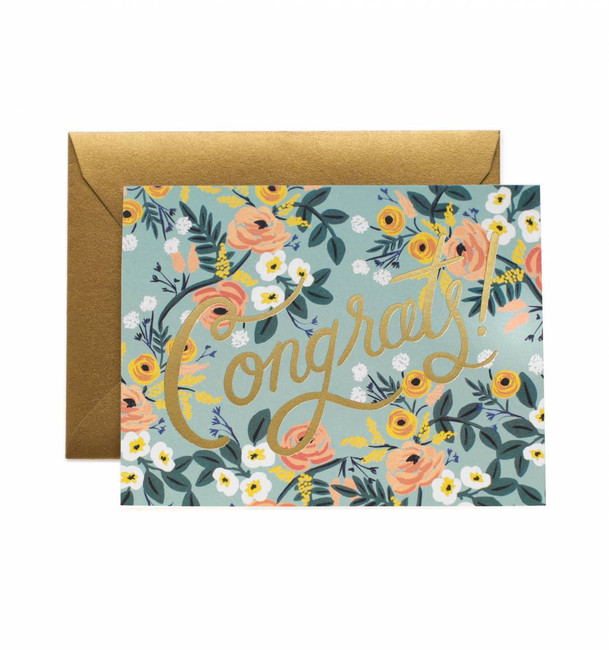 Rifle Paper Co: Blue Meadow Congrats Card