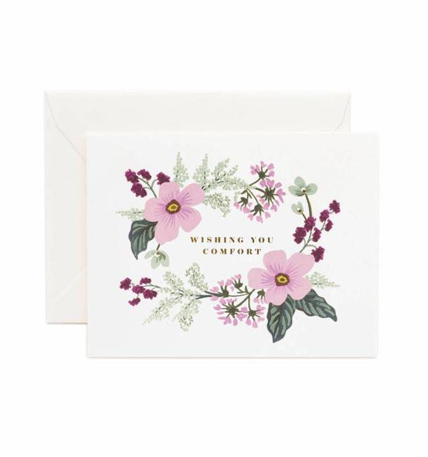 Rifle Paper Co: Wishing You Comfort Bouquet Card