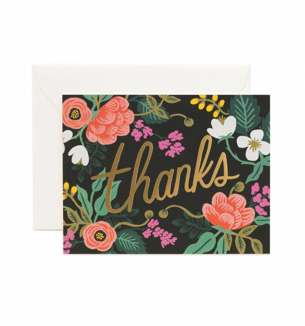 Rifle Paper Co: Set of 8 Birch Floral Thank You Cards