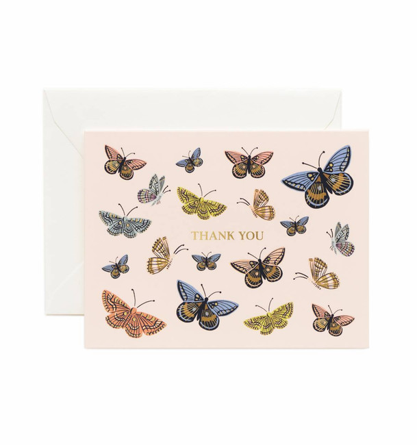 Rifle Paper Co: Set of 8 Monarch Thank You Cards