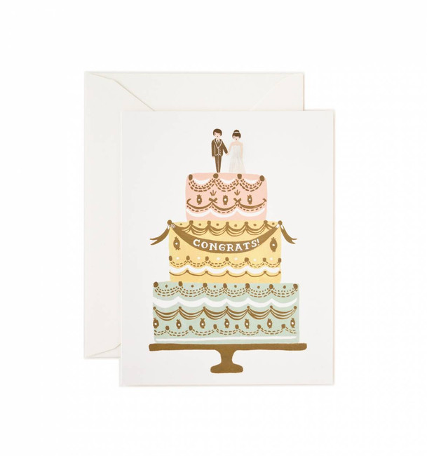 Rifle Paper Co: Congrats Wedding Cake Card