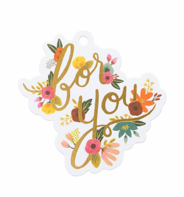 """Rifle Paper Co: Mint Floral """"For You"""" Gift Tags"""