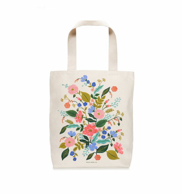 Rifle Paper Co: Floral Vines Tote Bag
